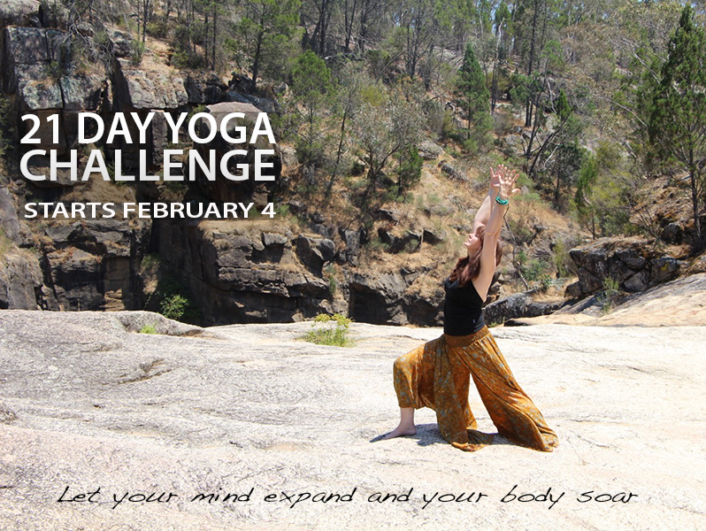 21 Day Yoga Challenge—let your mind expand and your body soar