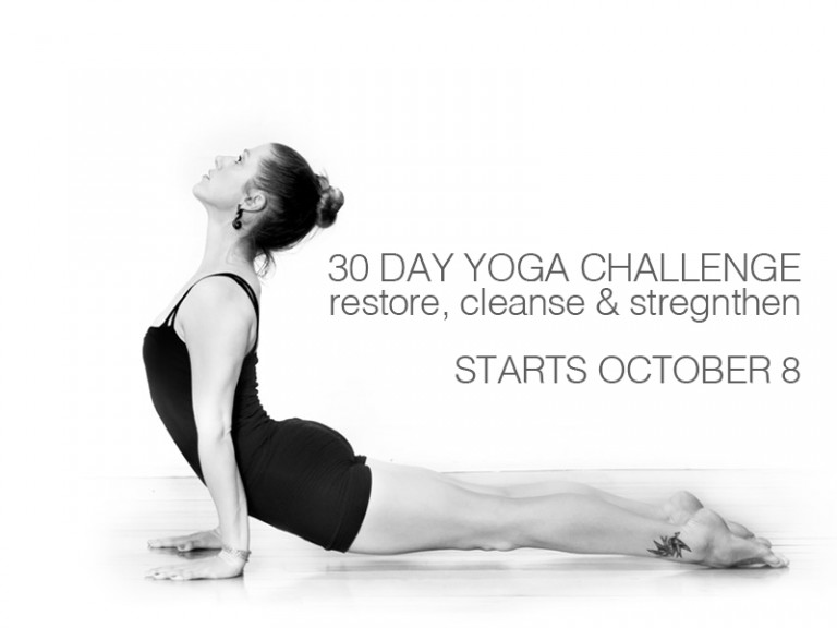 30 Day Yoga Challenge—Restore, Cleanse & Strengthen