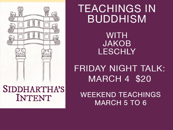 Teachings in Buddhism with Jakob Leschly
